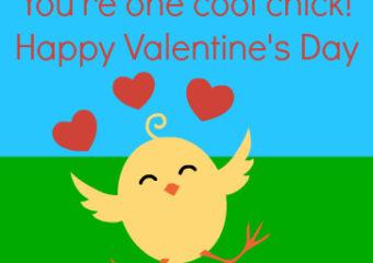 Cute Chick Printable Valentine