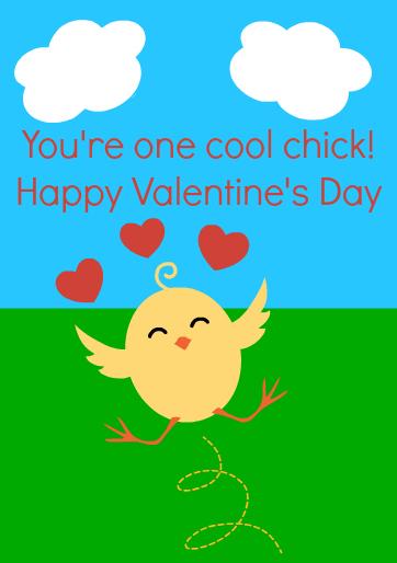chick valentine printable