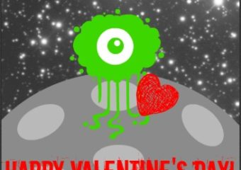 Space Themed Valentines Day Cards