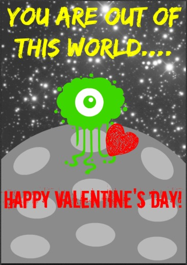 space valentines day cards