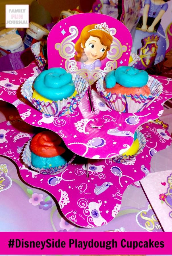 disneyside playdough cupcakes