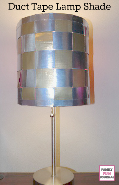 duct tape lamp shade