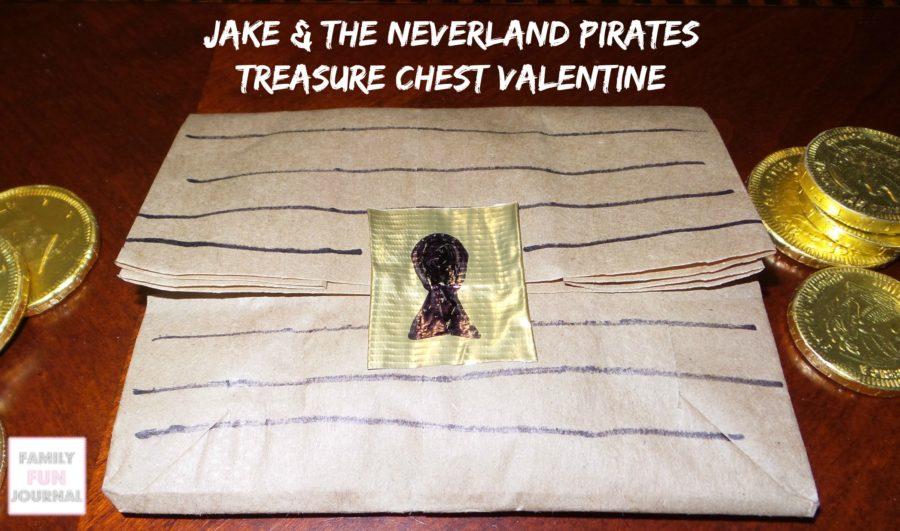jake & the neverland pirates treasure chest valentine