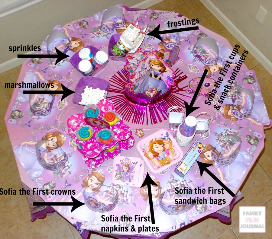 sofia the first party family fun journal. Black Bedroom Furniture Sets. Home Design Ideas