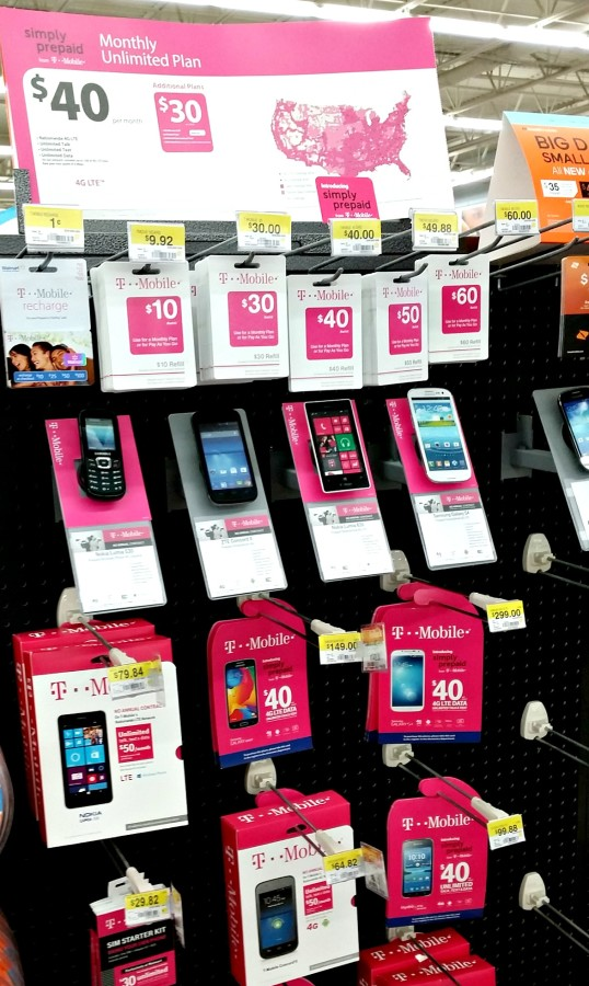 t-mobile simply prepaid display