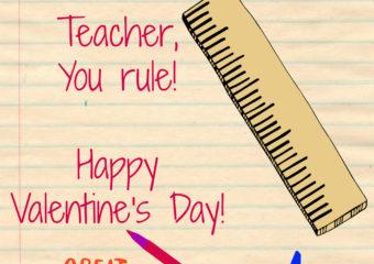 Teacher Valentines Day Card