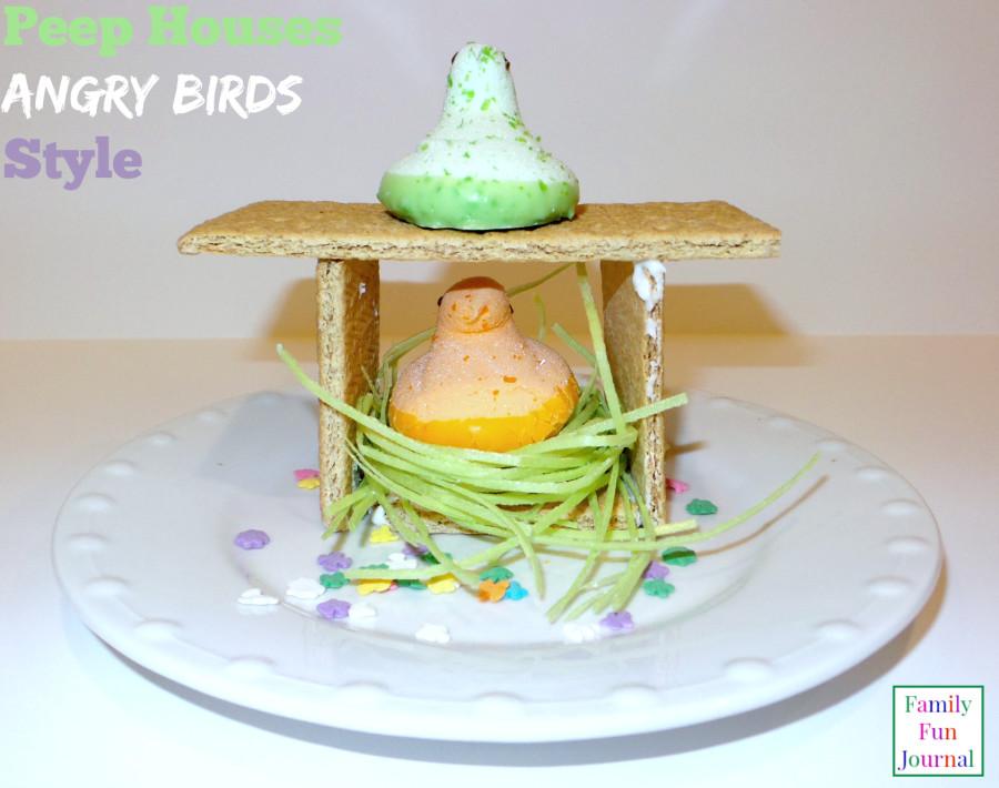 angry birds peep houses