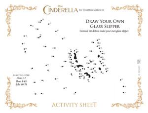 cinderella glass slipper drawing