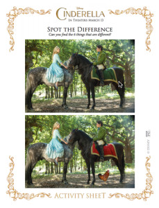 cinderella spot the difference 4