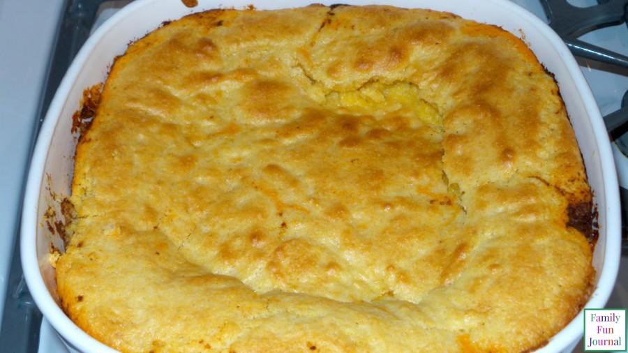 cornbread chili casserole