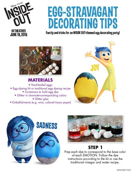 inside out activity sheets easter