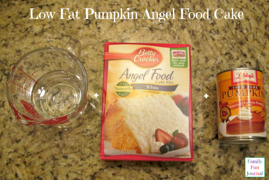 low fat pumpkin angel food cake