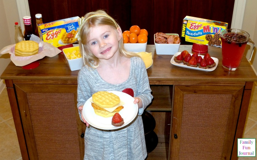sandwiches with eggo waffles