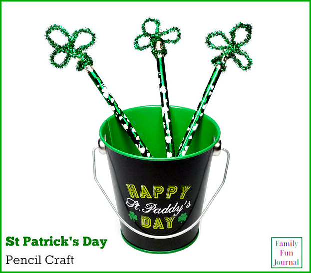st patrick's day pencil craft final