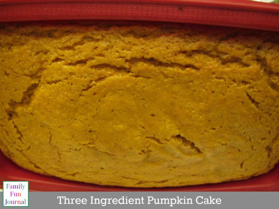 three ingredient pumpkin cake