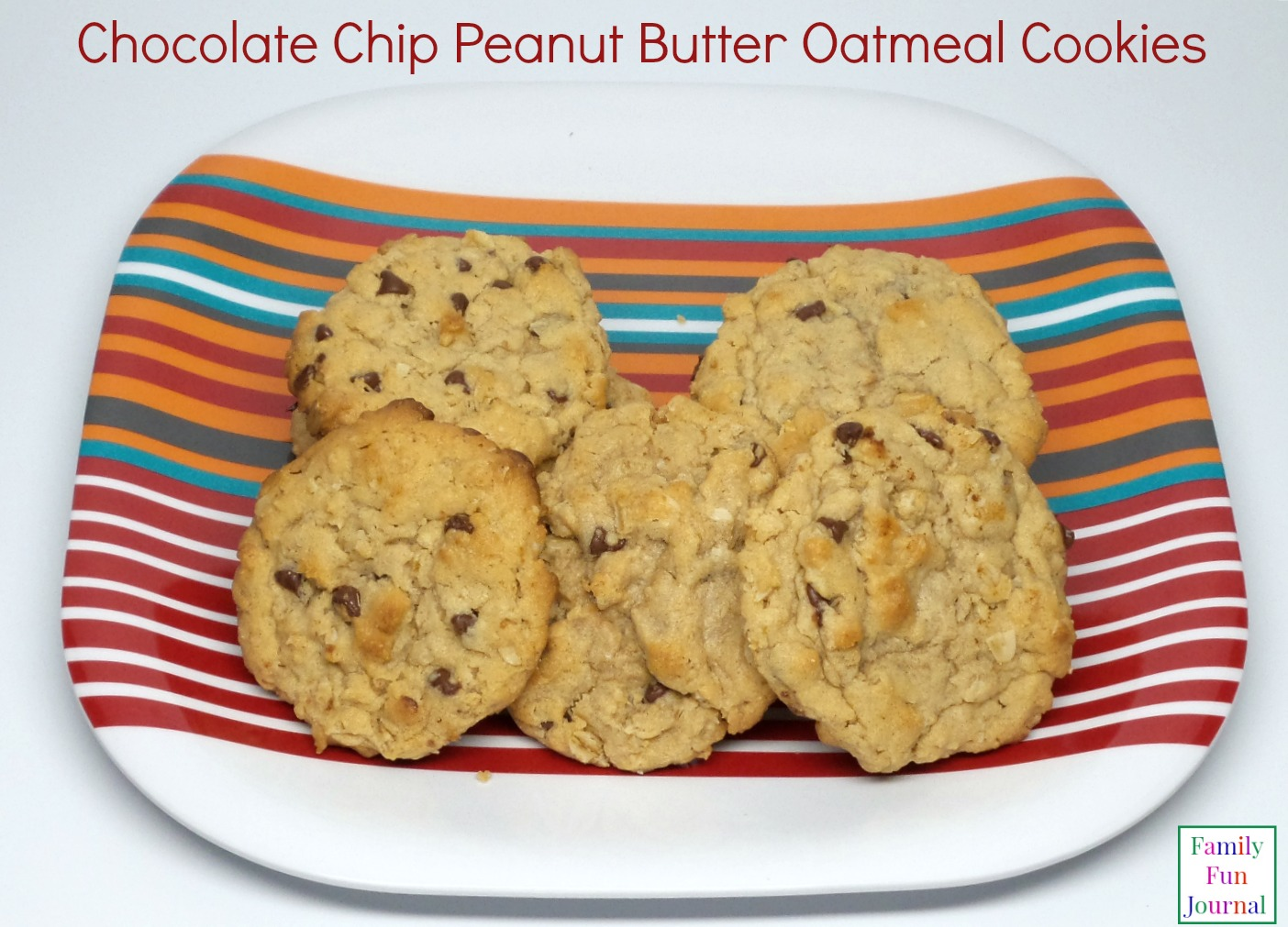 Amazing Chocolate Chip Oatmeal Cookies - Family Fun Journal