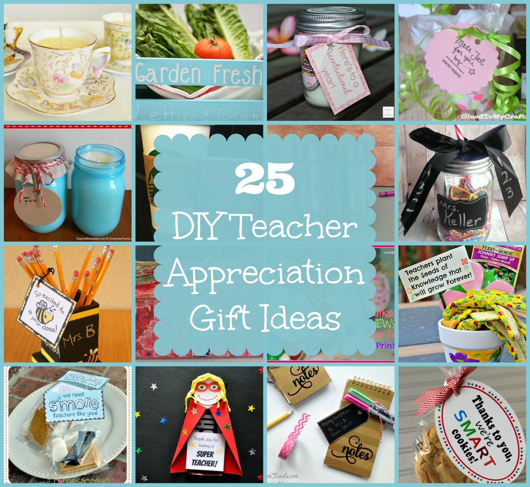 Diy Gift Idea Day Teacher Home Art Decor: 25 Teacher Appreciation Gift Ideas