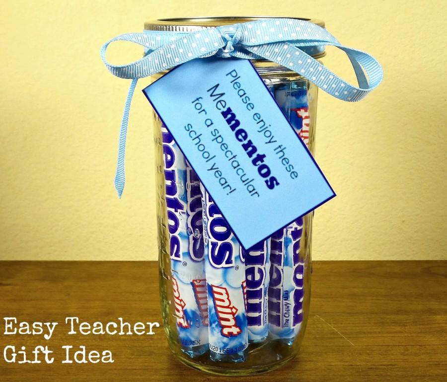 easy mentos teacher gift idea