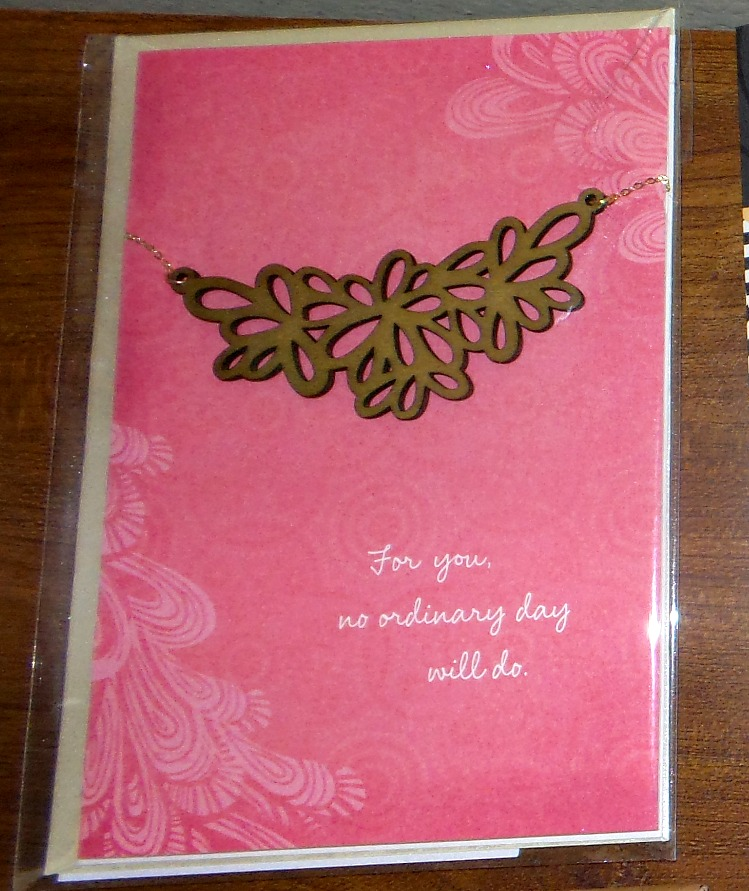hallmark necklace card