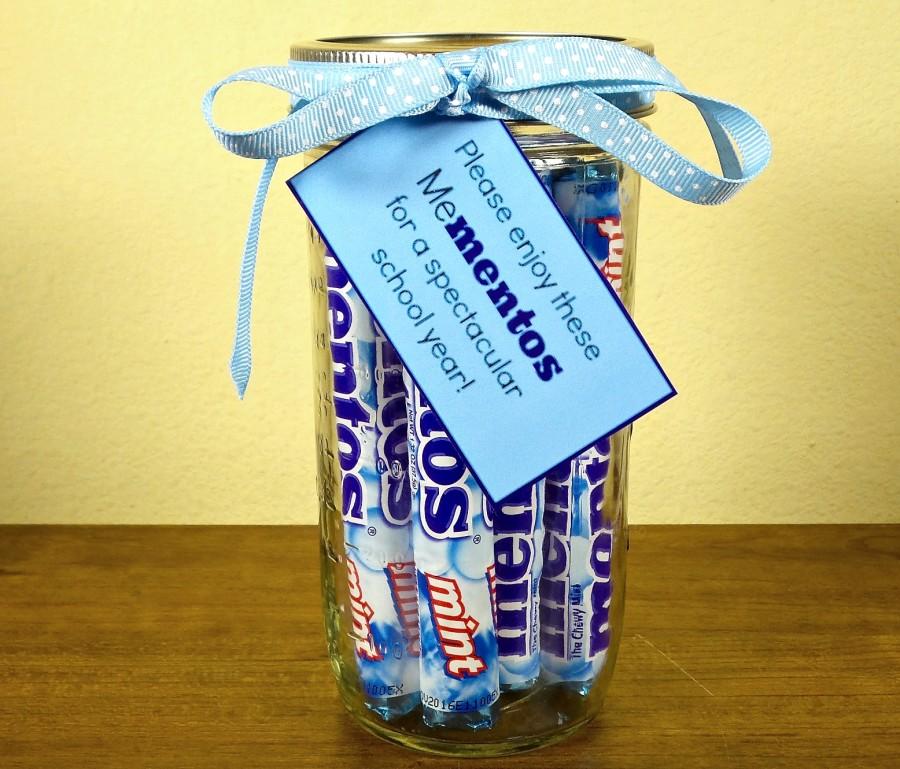 mentos teacher gift idea