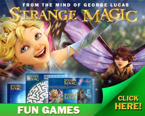 strange magic activity sheets