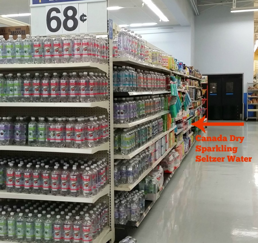 canada dry sparkling seltzer water at walmart aisle