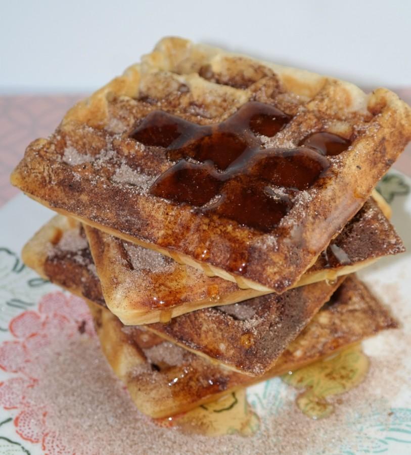 cinnamon toast waffles syrup