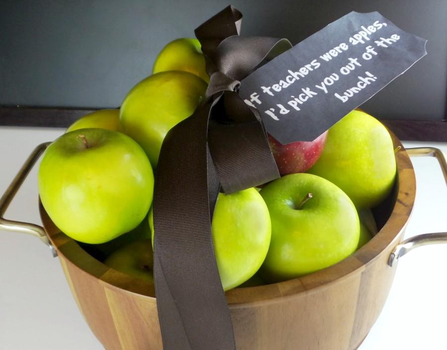 new teacher apple basket gift