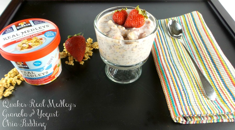 quaker real medleys granola and yogurt chia pudding main