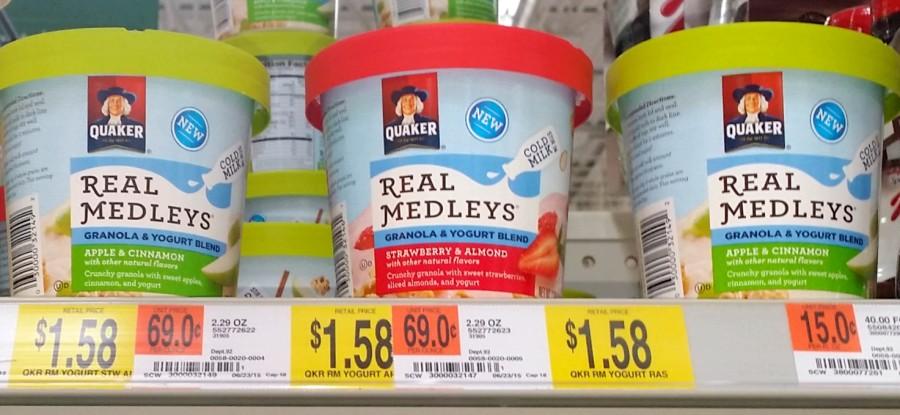 quaker real medleys yogurt cups walmart