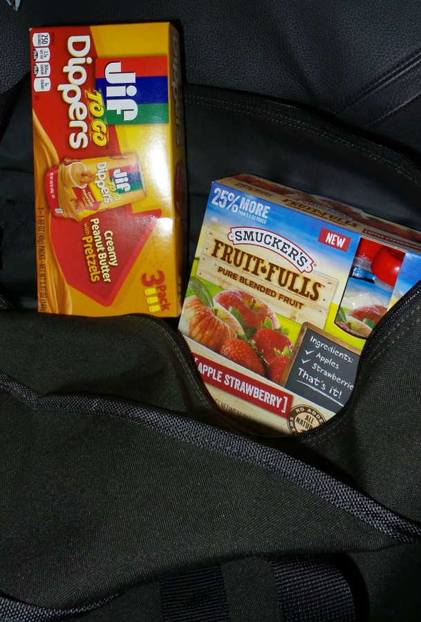 road trip snack bag