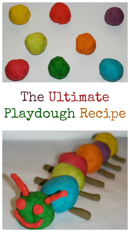 The best and easiest homemade playdough recipe.