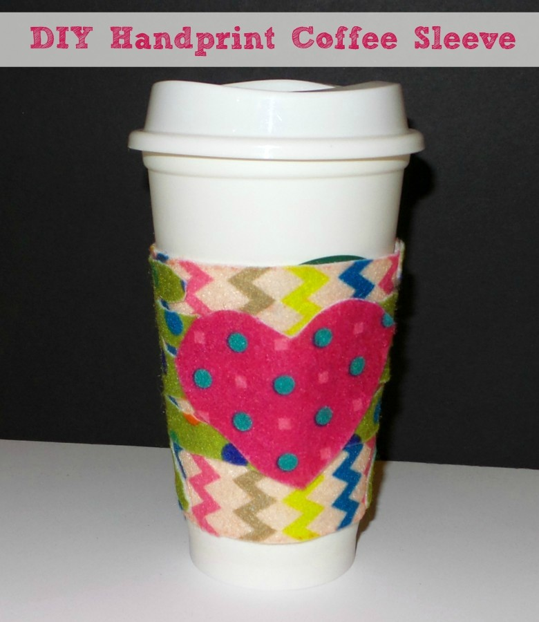 DIY Handprint Coffee Sleeve Gift Pin