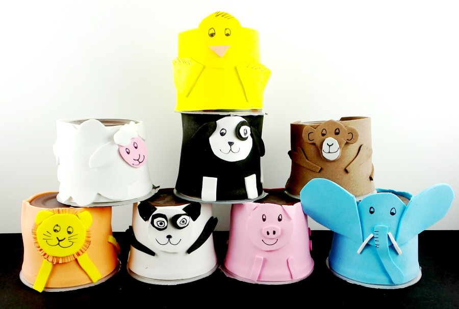 hersheys pudding cup animal craft 2