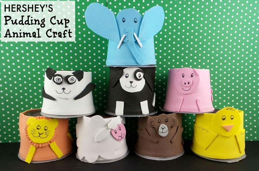 hersheys pudding cup animal craft final
