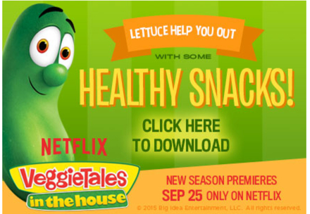 veggietales healthy snacks