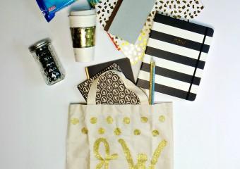 DIY Initial Tote Bag