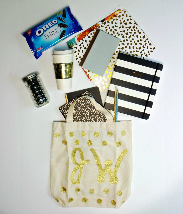 diy tote bag final contents