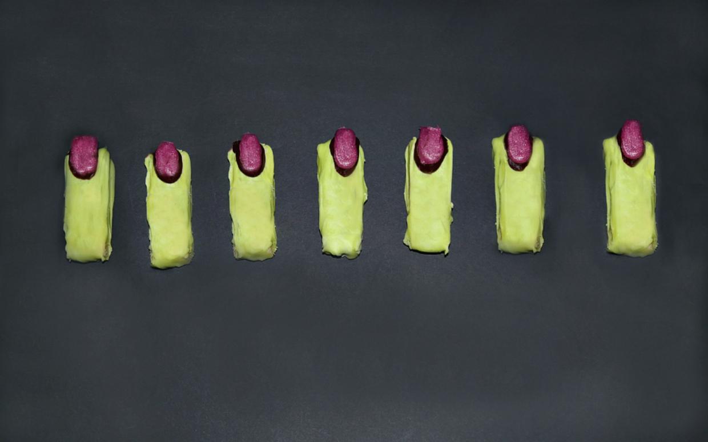 witch finger halloween cookies