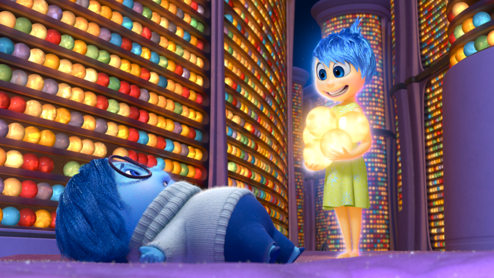 INSIDE OUT - Pictured (L-R): Sadness, Joy. 2015 Disney Pixar. All Rights Reserved.
