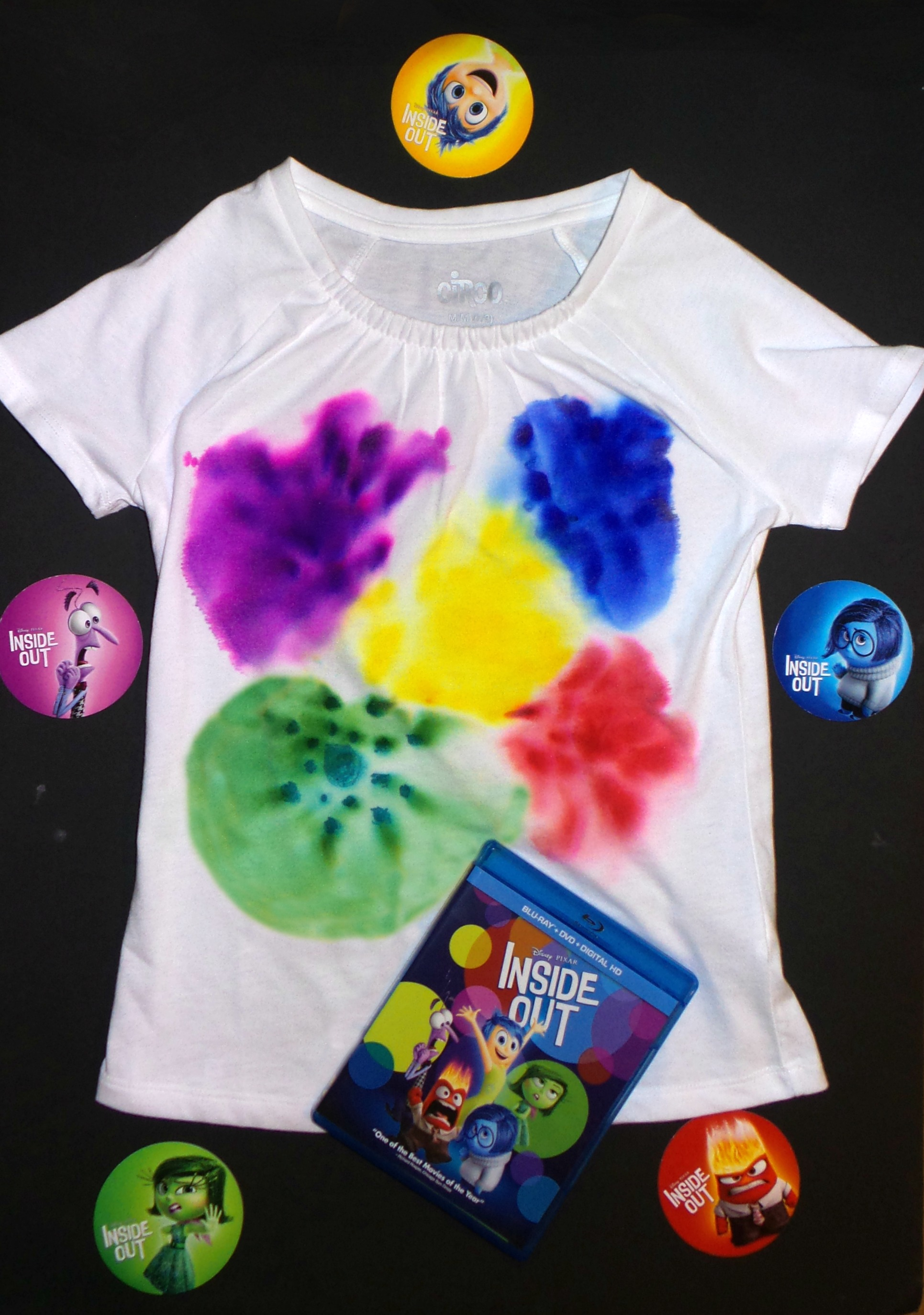 inside out character tie dye shirt