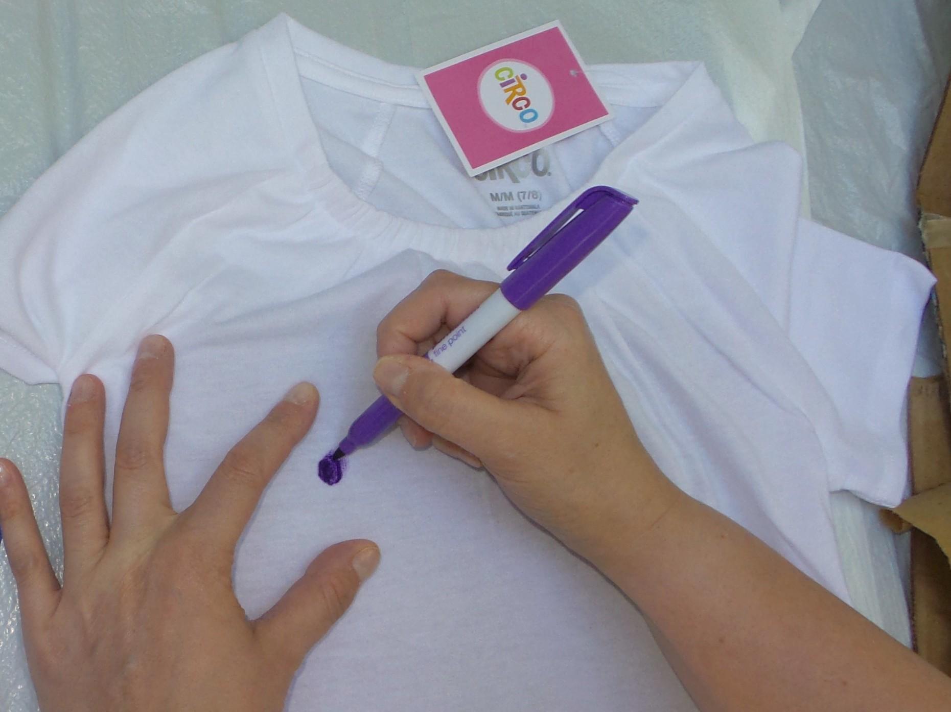 tie dye shirt step 2