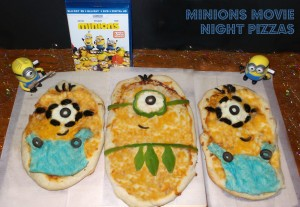 Minions Movie Night Pizzas