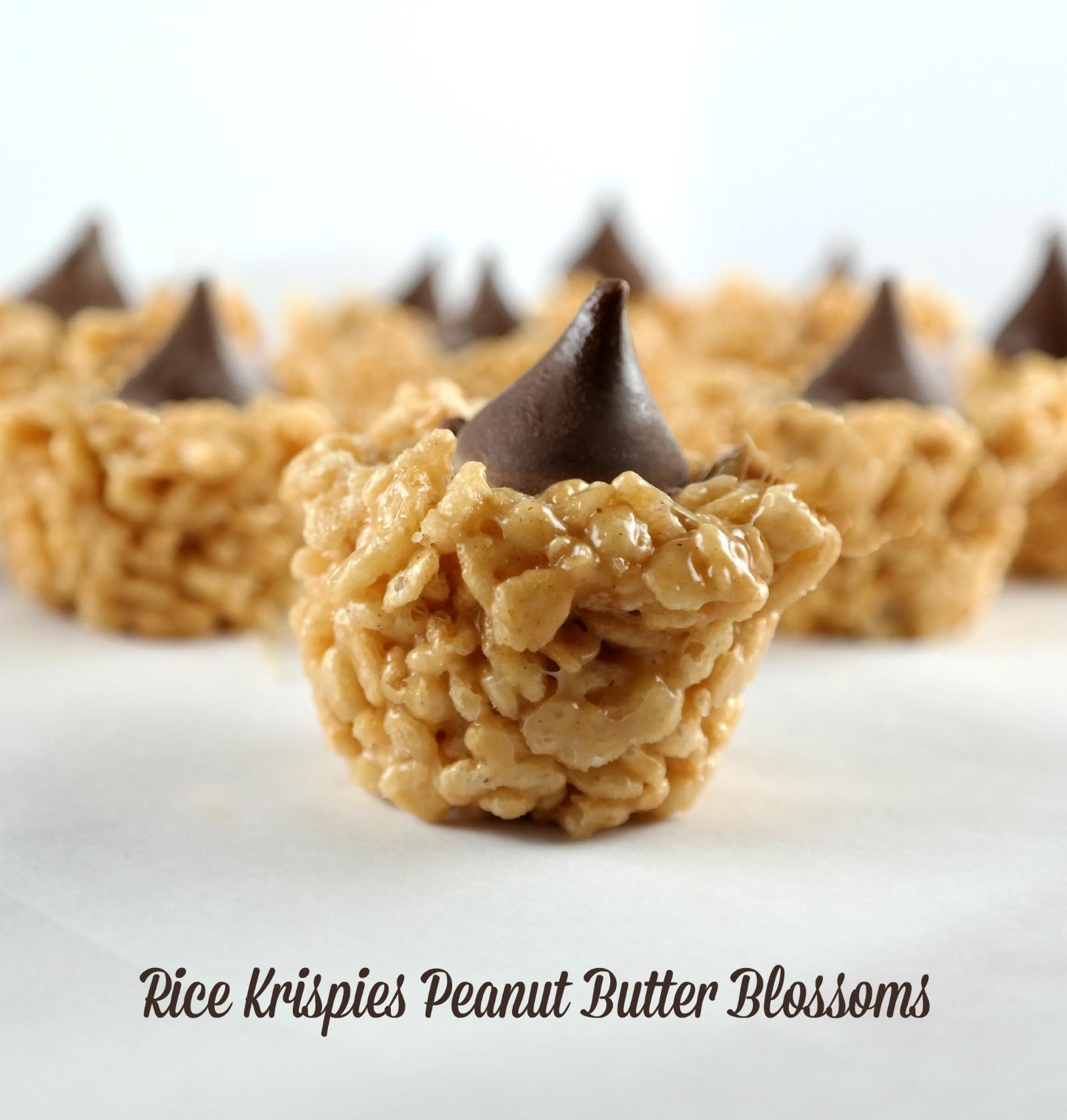 peanut butter blossoms rice krispies