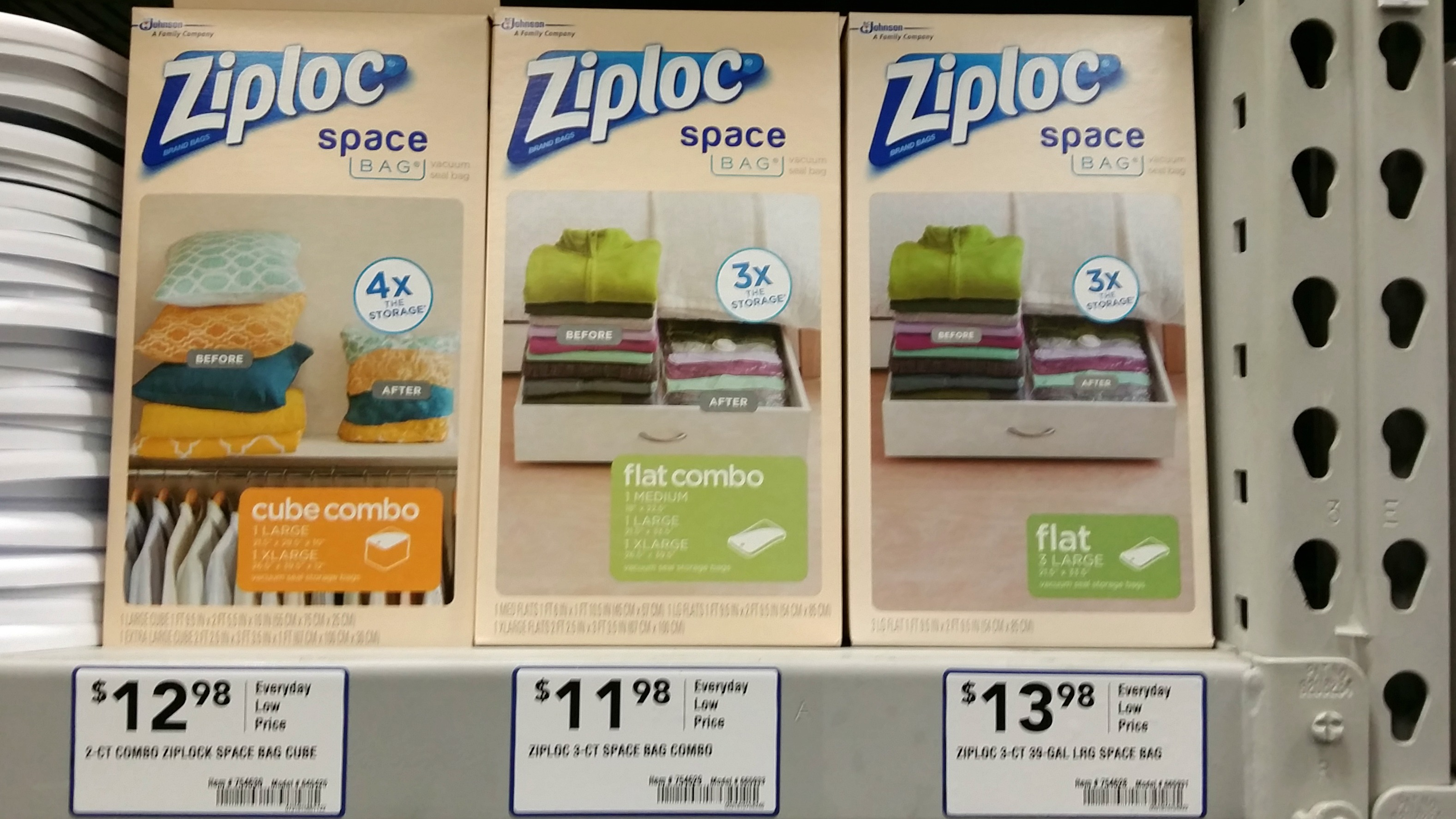 ziploc space bags