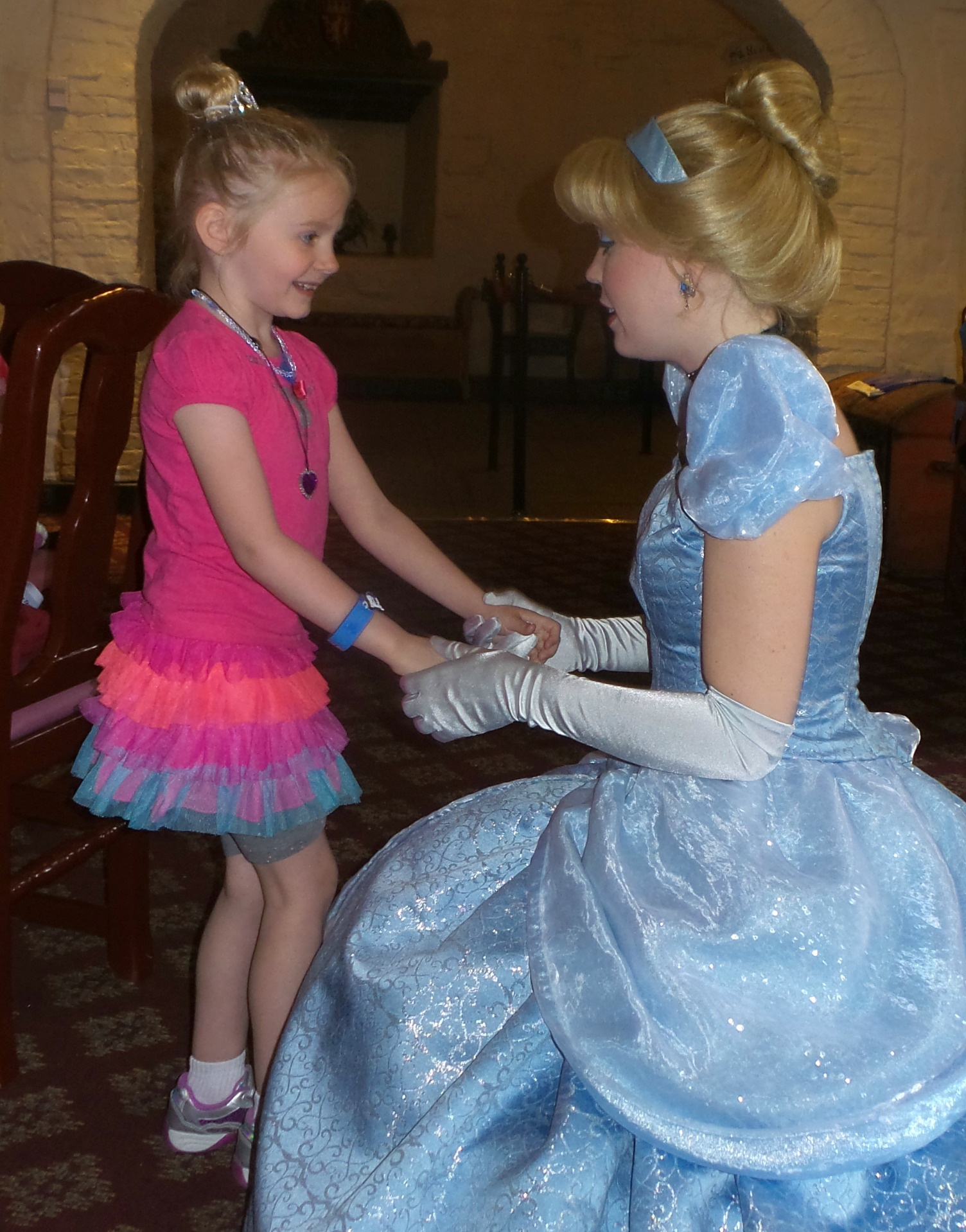 Disney Princess Lunch at Akershus Royal Hall.