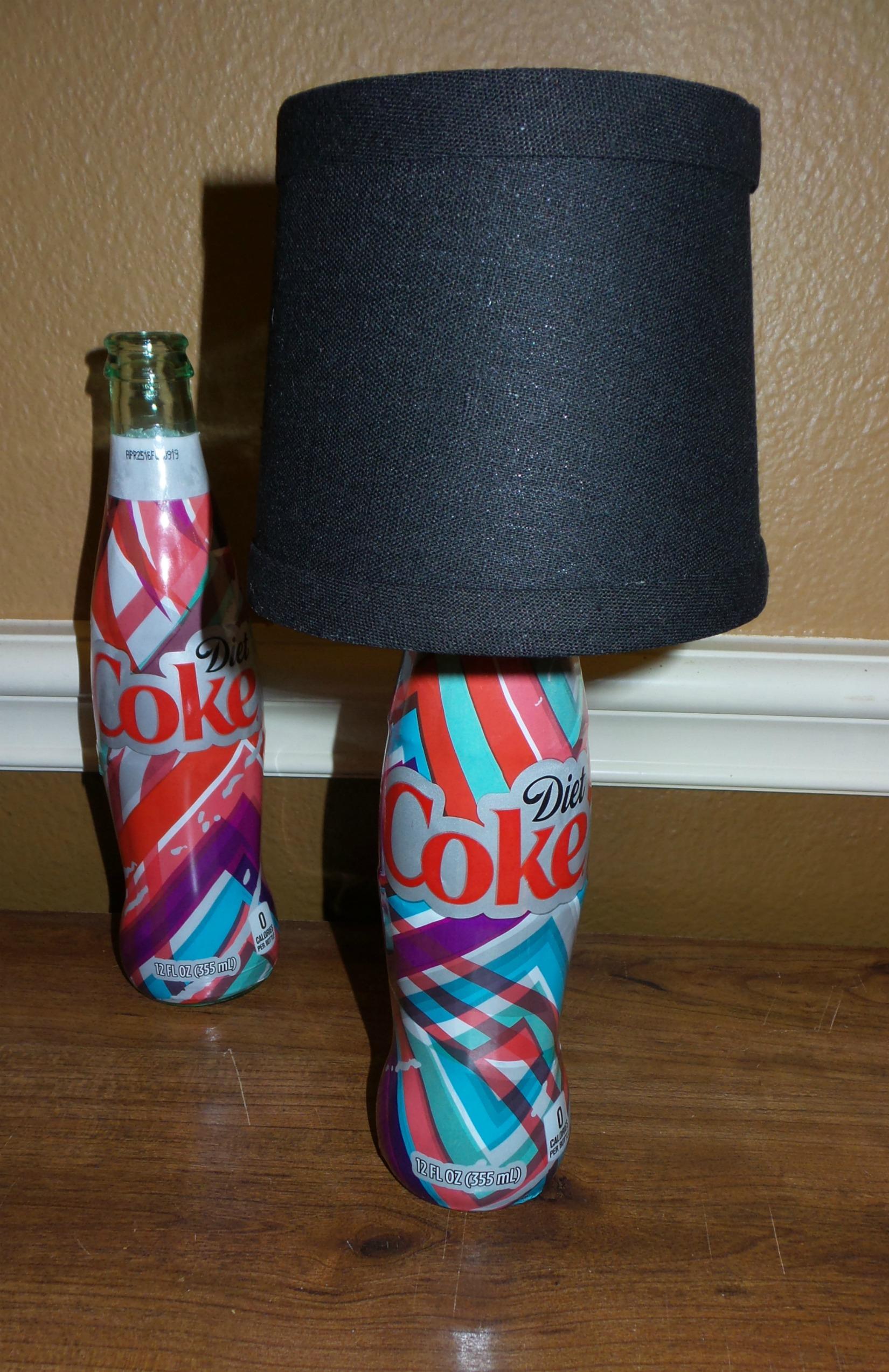 coke bottle lamp final step