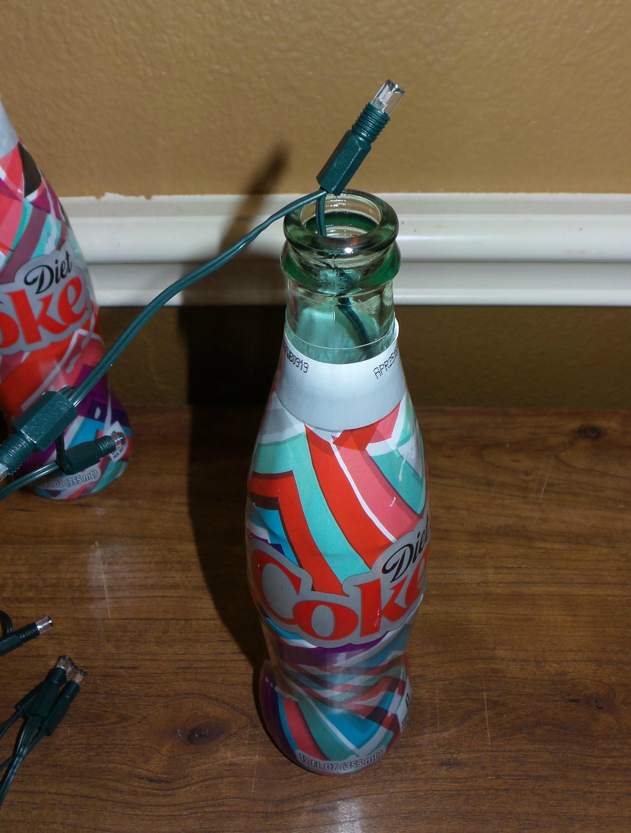 coke bottle lamp step one