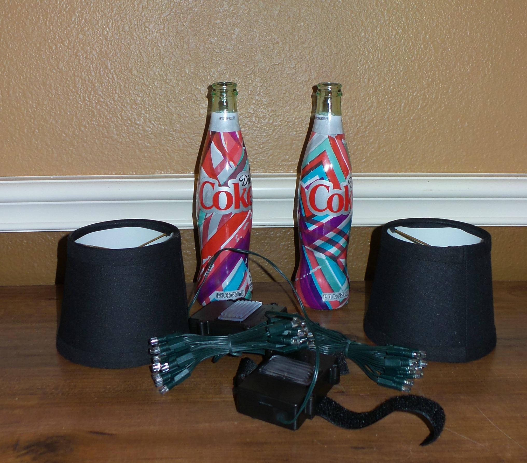 coke bottle lamp supplies
