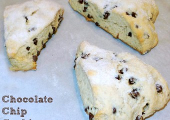 Chocolate Chip Cookie Scones